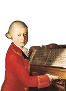young Mozart at the keyboard