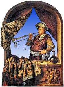 Trumpeter by Willem van Mieris, 1700