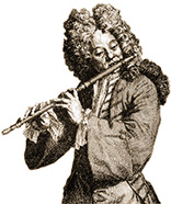 transverse flute player