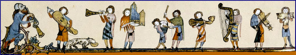Medieval Musicians Banner